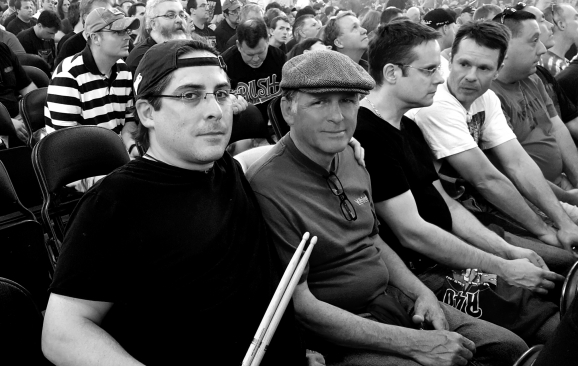 EL and Dad at R40 concert, Boston, MA 2015