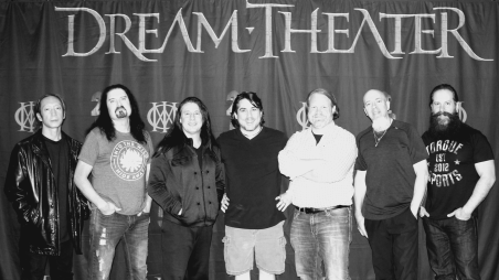 Meeting our heros, the boys of Dream Theater. My best friend and college roommate in Austin, TX. Dec 2017